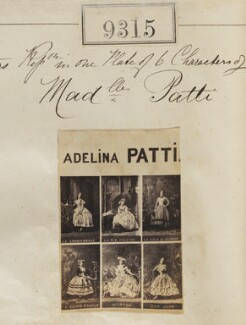 Adelina Patti in costume for six different roles, by Camille Silvy - NPG Ax59128