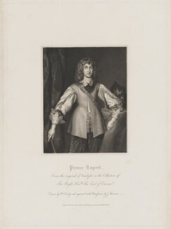 Prince Rupert, Count Palatine, by James Thomson (Thompson), published by  Harding & Lepard, after  William Derby, after  Sir Anthony van Dyck - NPG D33456