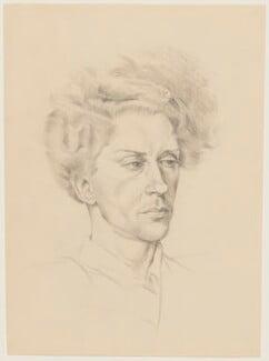 Quentin Crisp, by Barbara Morris - NPG D33669