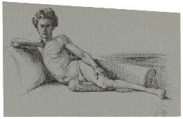 Quentin Crisp, by Barbara Morris - NPG D33670