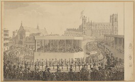 The Coronation procession of King George IV, by Unknown artist - NPG D33365