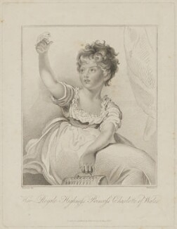 Princess Charlotte Augusta of Wales, by Marie Anne Bourlier, published by  Edward Harding, after  Sir Thomas Lawrence - NPG D33512