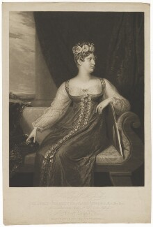 Princess Charlotte Augusta of Wales, by Henry Edward Dawe, and by  Thomas Hodgetts, after  George Dawe - NPG D33515