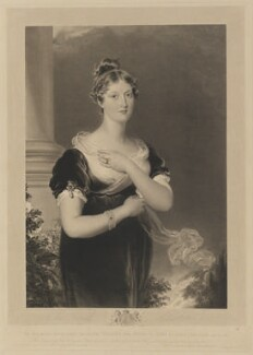 Princess Charlotte Augusta of Wales, by Richard Golding, published by  Colnaghi & Co, after  Sir Thomas Lawrence - NPG D33522