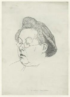 Katharine Hinkson (née Tynan), by Powys Evans - NPG D33463