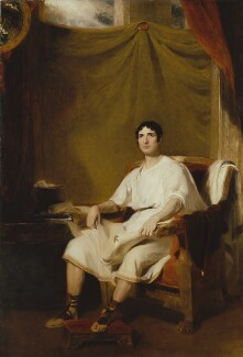 John Philip Kemble as Cato by Thomas Lawrence, 1812 Purchased with help from the Art Fund, Gift Aid visitor ticket donations and the Garrick Club, 2009. Photograph Hugh Kelly © Joseph Friedman Ltd; Collection National Portrait Gallery, London