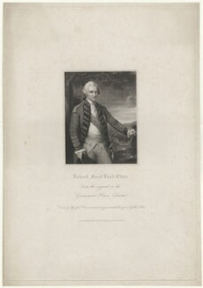 Robert Clive, by W.T. Mote, after  Miss Jane Drummond, after  Nathaniel Dance (later Sir Nathaniel Holland, Bt) - NPG D33529