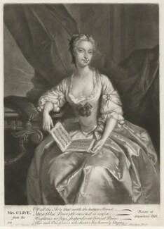Catherine ('Kitty') Clive (née Raftor), by Alexander van Aken, after  Joseph van Aken - NPG D33532