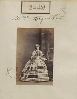 Oriettou ('Henrietta') Argenti (née Scaramanga), by Camille Silvy, 11 March 1861 - NPG Ax51838 - © National Portrait Gallery, London