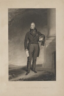 King William IV, by Joseph Epenetus Coombs, published by  Hodgson & Graves, after  Sir Thomas Lawrence - NPG D33554