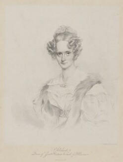 Queen Adelaide (Princess Adelaide of Saxe-Meiningen), by Richard James Lane - NPG D33555