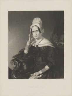 Queen Adelaide (Princess Adelaide of Saxe-Meiningen), by James Thomson (Thompson), published by  Joseph Hogarth, after  John Lucas - NPG D33556