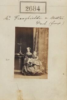 Constance Clara Franghiadi (née Harman); Paul Franghiadi, by Camille Silvy - NPG Ax52073
