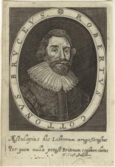Sir Robert Bruce Cotton, 1st Bt, by Thomas Cross, after  Cornelius Johnson (Cornelius Janssen van Ceulen) - NPG D33596