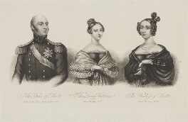 Prince Edward, Duke of Kent and Strathearn; Queen Victoria; Princess Victoria, Duchess of Kent and Strathearn, after Unknown artist - NPG D33560