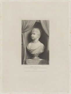 Queen Victoria, by James Thomson (Thompson), after  Henry Corbould, after  William Behnes - NPG D33563
