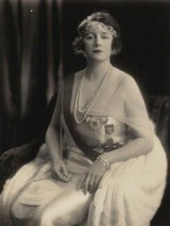 Grace Elvina Curzon (née Hinds), Marchioness Curzon of Kedleston, by Bertram Park - NPG x131930