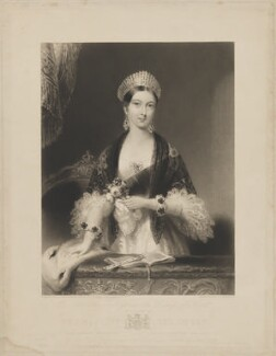 Queen Victoria, by Charles Edward Wagstaff, published by  Hodgson & Graves, after  Edmund Thomas Parris - NPG D33573