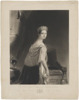 Queen Victoria, by Charles Edward Wagstaff, published by  Hodgson & Graves, after  Thomas Sully - NPG D33577