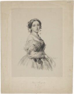 Queen Victoria, by Richard James Lane, after  Franz Xaver Winterhalter - NPG D33581
