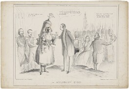 'A Military Hebe' (group including Prince Albert of Saxe-Coburg-Gotha; Queen Victoria; Louis-Philippe I, King of the French), published by Messrs Fores, after  Unknown artist - NPG D33586