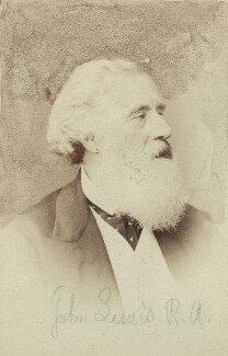 John Frederick Lewis, by Elliott & Fry - NPG Ax131897