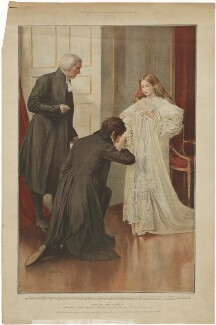 'Your Majesty' (William Howley; Francis Nathaniel Conyngham, 2nd Marquess Conyngham; Queen Victoria), published by The Graphic, after  Mary Louisa Gow - NPG D33592