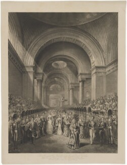 Queen Victoria opening her first Parliament, by George Baxter, 1837 or after - NPG D33616 - © National Portrait Gallery, London