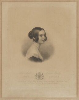 Queen Victoria, by Henry Thomas Ryall, printed by  McQueen (Macqueen), published by  Colnaghi and Puckle, after  Sir William Charles Ross - NPG D33622