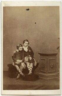 Prince Leopold, Duke of Albany; Prince Arthur, 1st Duke of Connaught and Strathearn, by John Jabez Edwin Mayall, 1860 - NPG x45774 - © National Portrait Gallery, London