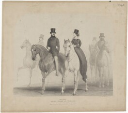 Prince Albert of Saxe-Coburg-Gotha; Queen Victoria, printed by Alfred Ducôte, published by  Thomas McLean, after  Richard Doyle - NPG D33625