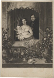 'Windsor Castle' (Victoria, Empress of Germany and Queen of Prussia; Queen Victoria; Prince Albert of Saxe-Coburg-Gotha), by Siegfried Detlev Bendixen, after  George Thomas Payne - NPG D33627
