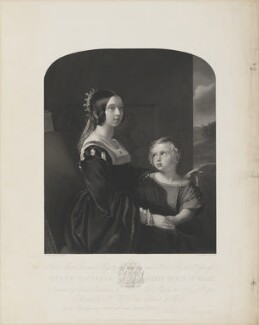 Queen Victoria; King Edward VII, by Henry Thomas Ryall, published by  Hering & Remington, after  Frederick A.C. Tilt, (circa 1847) - NPG D33628 - © National Portrait Gallery, London