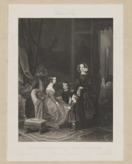 Visit of Queen Victoria to the Duchesse D'Orléans, by Skelton and Hopwood, after  Eugene Modeste Edmond Lepoittevin (Lepoitevin) - NPG D33629