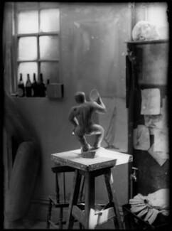 Maurice Lambert's studio ('The Cymbalist'), by Yvonne Gregory - NPG x132012