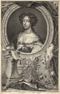 Queen Mary II, by Jacobus Houbraken, after  Caspar Netscher - NPG D9291