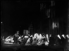 Lady Diana Cooper (Diana (née Manners), Viscountess Norwich) as the Madonna with the cast of 'The Miracle', by Bertram Park - NPG x132045