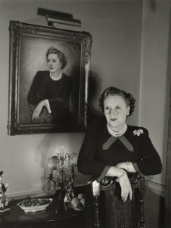 Dame Barbara Hamilton Cartland, by Tom Blau - NPG x131947
