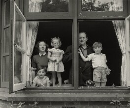 Richard Dimbleby and his family, by Tom Blau - NPG x131948