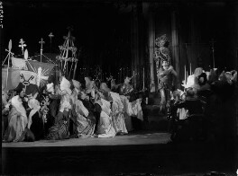 Lady Diana Cooper (Diana (née Manners), Viscountess Norwich) as the Madonna with the cast of 'The Miracle', by Bertram Park - NPG x132046