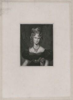 Queen Adelaide (Princess Adelaide of Saxe-Meiningen), by John Cochran, after  Fanny Corbaux, 1820s-1830s - NPG D9293 - © National Portrait Gallery, London