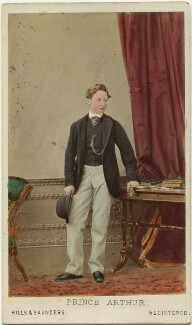 Prince Arthur, 1st Duke of Connaught and Strathearn, by Hills & Saunders, published by  A. Marion, Son & Co - NPG Ax46757