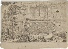 'The opening of the Great Industrial Exhibition of all Nations', by George Cruikshank, published by  David Bogue - NPG D33638