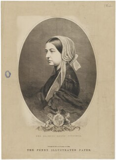 Queen Victoria, published by Penny Illustrated Paper, after an intermediary drawing by  Thomas Dewell Scott, after  Unknown artist - NPG D33640