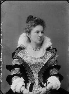 Margaret Elizabeth Child-Villiers (née Leigh), Countess of Jersey as Anne of Austria, by Alexander Bassano, 1897 - NPG x31256 - © National Portrait Gallery, London