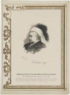 Queen Victoria, published by Illustrated London News, after an intermediary drawing by  Amedée Forestier - NPG D33650