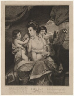 Cornelia and her Children, by Charles Wilkin, after  Sir Joshua Reynolds - NPG D33695