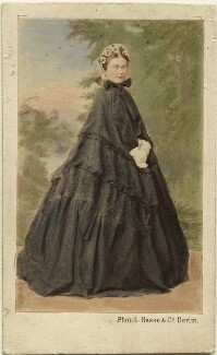 Victoria, Empress of Germany and Queen of Prussia, by L. Haase & Co, early 1860s - NPG Ax46780 - © National Portrait Gallery, London