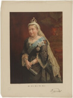 Queen Victoria, published by The Graphic, after  Frederick Sargent - NPG D33655