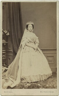 Princess Alice, Grand Duchess of Hesse, by John Jabez Edwin Mayall, published by  A. Marion, Son & Co - NPG x26121
